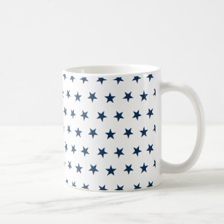 Stars 8 Dazzling Blue Basic White Mug