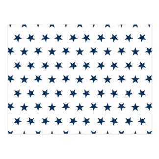 Stars 8 Dazzling Blue Postcard