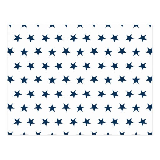 Stars 8 Dazzling Blue Post Cards
