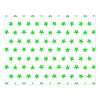 Stars 8 Green Postcard