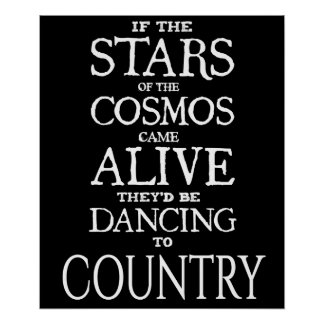 """STARS ALIVE"" - Country - 24"" x 20"" Poster (Matte)"