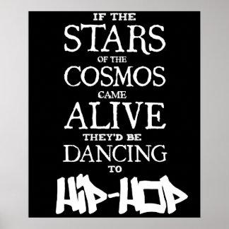"""""""STARS ALIVE"""" - Hip Hop - 24"""" x 20"""" Poster (Matte)"""