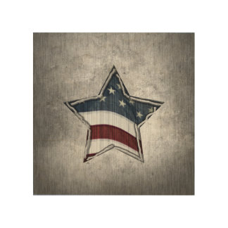 Stars and Bars Wood Wall Art