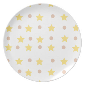 stars and dots plate