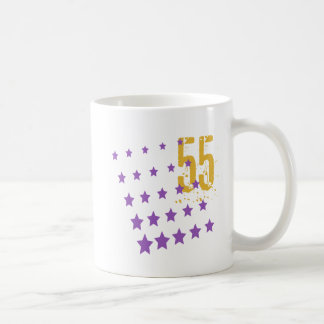 STARS AND ERODED NUMBER 55 COFFEE MUG