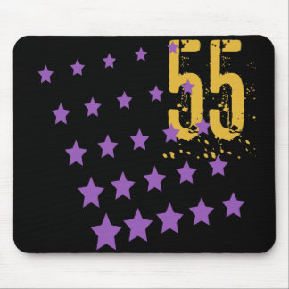 STARS AND ERODED NUMBER 55 MOUSE PADS