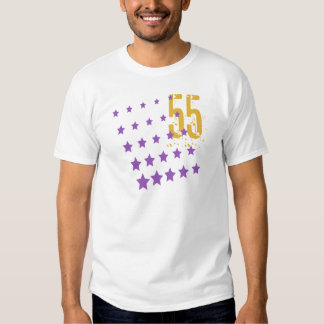 STARS AND ERODED NUMBER 55 T-SHIRTS
