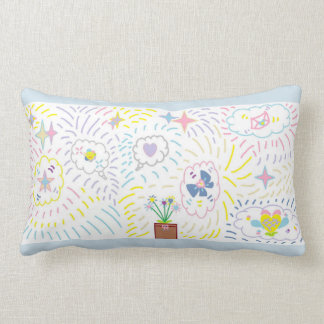 Stars and Fancy Clouds Pillow