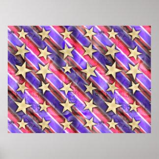 Stars And Flag Stripes Poster