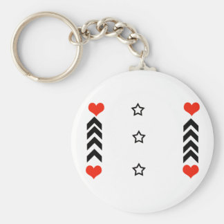 stars and hearts key chain