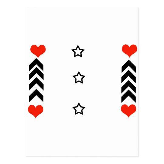 stars and hearts postcard