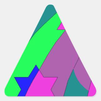 stars and hearts rainbow triangle sticker