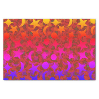 STARS AND MOONS NEON by Jetpackcorps Tissue Paper
