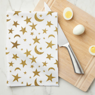 Stars and Moons Tea Towel