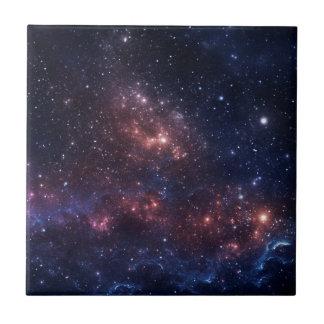 Stars and nebula small square tile