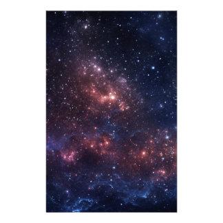 Stars and nebula stationery design