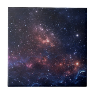 Stars and nebula tile