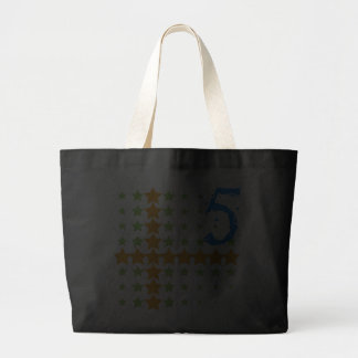 STARS AND NUMBER 5 JUMBO TOTE BAG