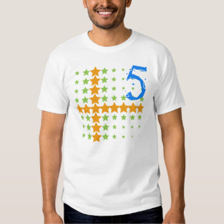 STARS AND NUMBER 5 TSHIRT