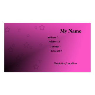 Stars and Pink Business Card Templates