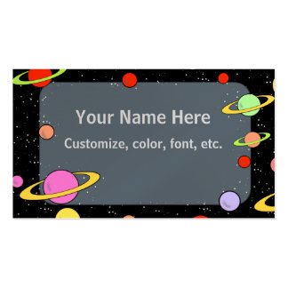 STARS AND PLANETS PACK OF STANDARD BUSINESS CARDS