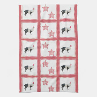 Stars And Roosters Country Decor Kitchen Towel