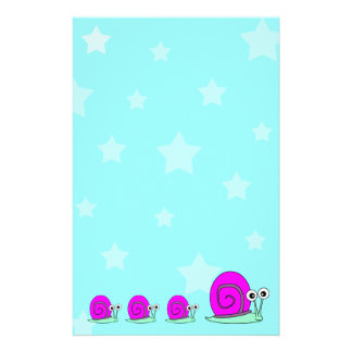 Stars and Snail Stationery