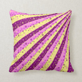 Stars and spirals pillow