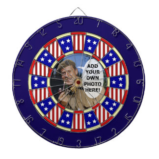 Stars and Stripes American Add Custom Photo Dartboards