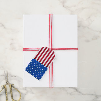 Stars And Stripes-American Flag Gift Tags