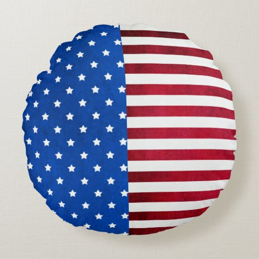 Stars And Stripes-American Flag Round Pillow