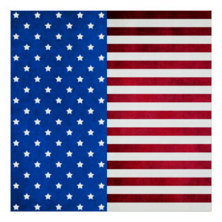 Stars And Stripes-American Flag Poster