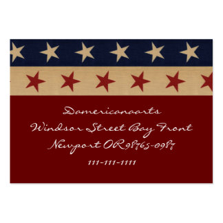 Stars and Stripes Americana Large Business Cards (Pack Of 100)
