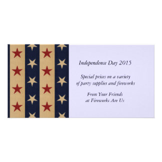 Stars and Stripes Americana Customized Photo Card