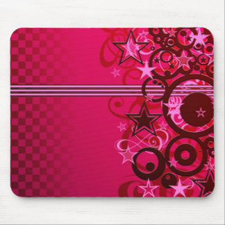 Stars and stripes and swirls mouse mat