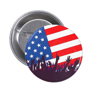 Stars And Stripes Audience 6 Cm Round Badge