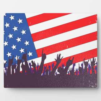 Stars And Stripes Audience Photo Plaque