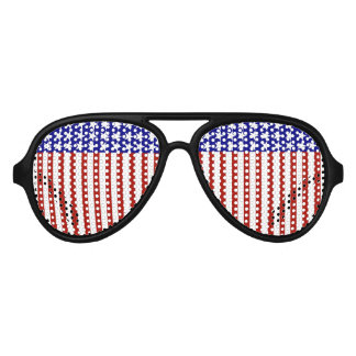 Stars and Stripes Background Aviator Sunglasses