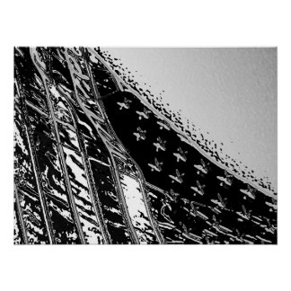 Stars and Stripes Boston Harbour Poster