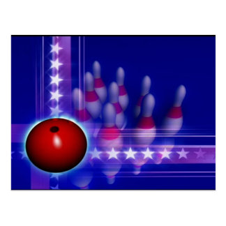 Stars and Stripes Bowling Post Cards