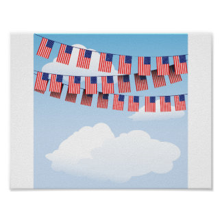 Stars And Stripes Bunting Poster