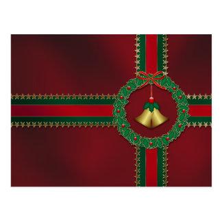 Stars and Stripes Christmas Postcard