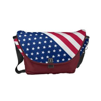 Stars and Stripes Commuter Travel Messenger Bag