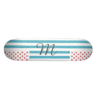 Stars and Stripes customizable monogram Custom Skateboard