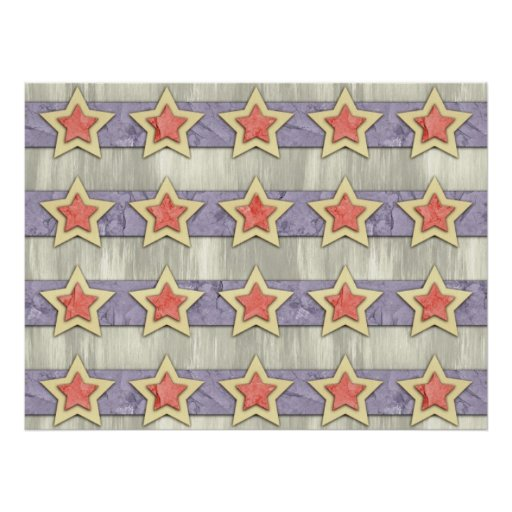 Stars And Stripes Cut Outs Print