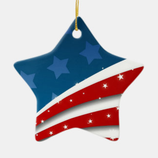 Stars and Stripes Christmas Tree Ornaments