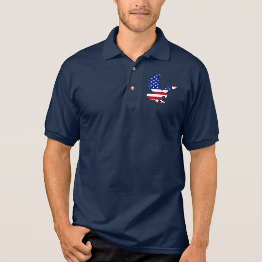 Stars and Stripes Eagle Polo Shirt