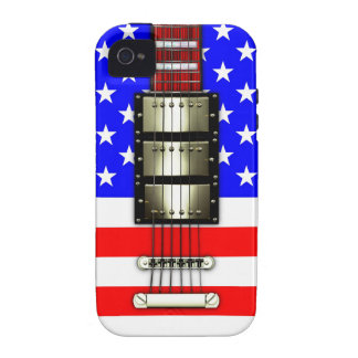 Stars and Stripes Electric Guitar Vibe iPhone 4 Covers
