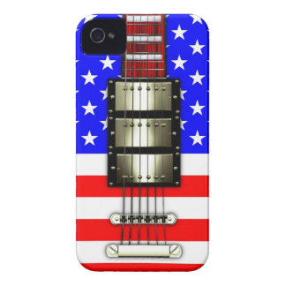 Stars and Stripes Electric Guitar iPhone 4 Case