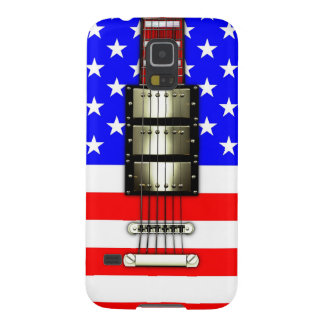 Stars and Stripes Electric Guitar Case For Galaxy S5
